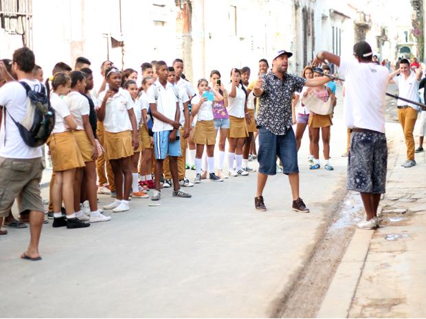 Cena espontânea com estudantes em Havana  Velha (foto: Jéssica Balbino)