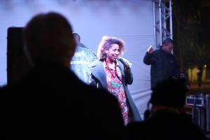 Cristina Assunção fala sobre o aniversário do slam e o interescolar (foto: Rodrigo Matos)